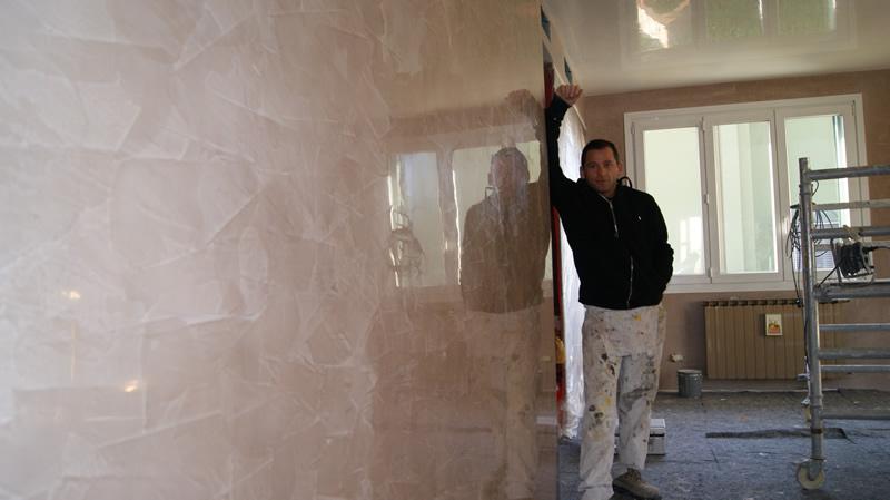 Rimuovere stucco veneziano